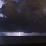 Lightning with waterspout